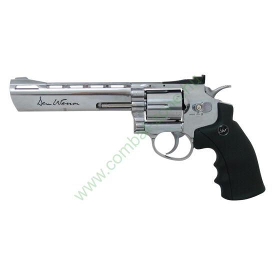 """Dan Wesson 6"""" revolver, nikkel"""