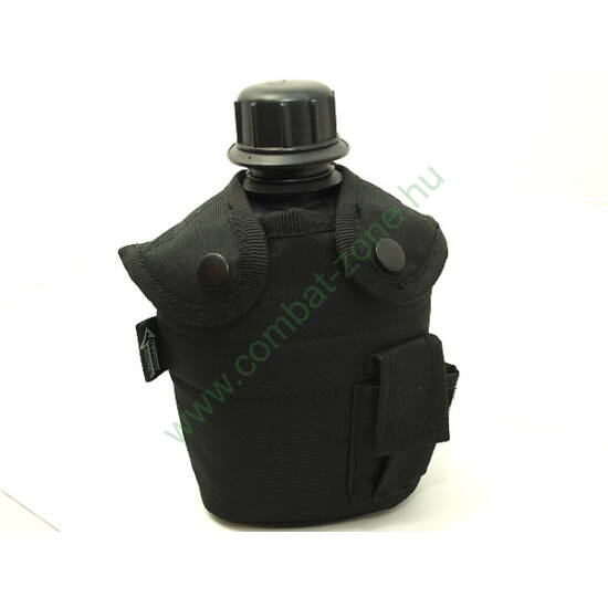 Katonai kulacs, 0.8 liter, fekete